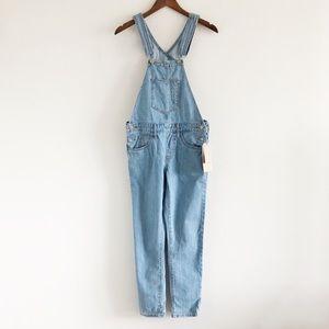 NWT Levi's 100% Cotton Denim Blue Overalls XS